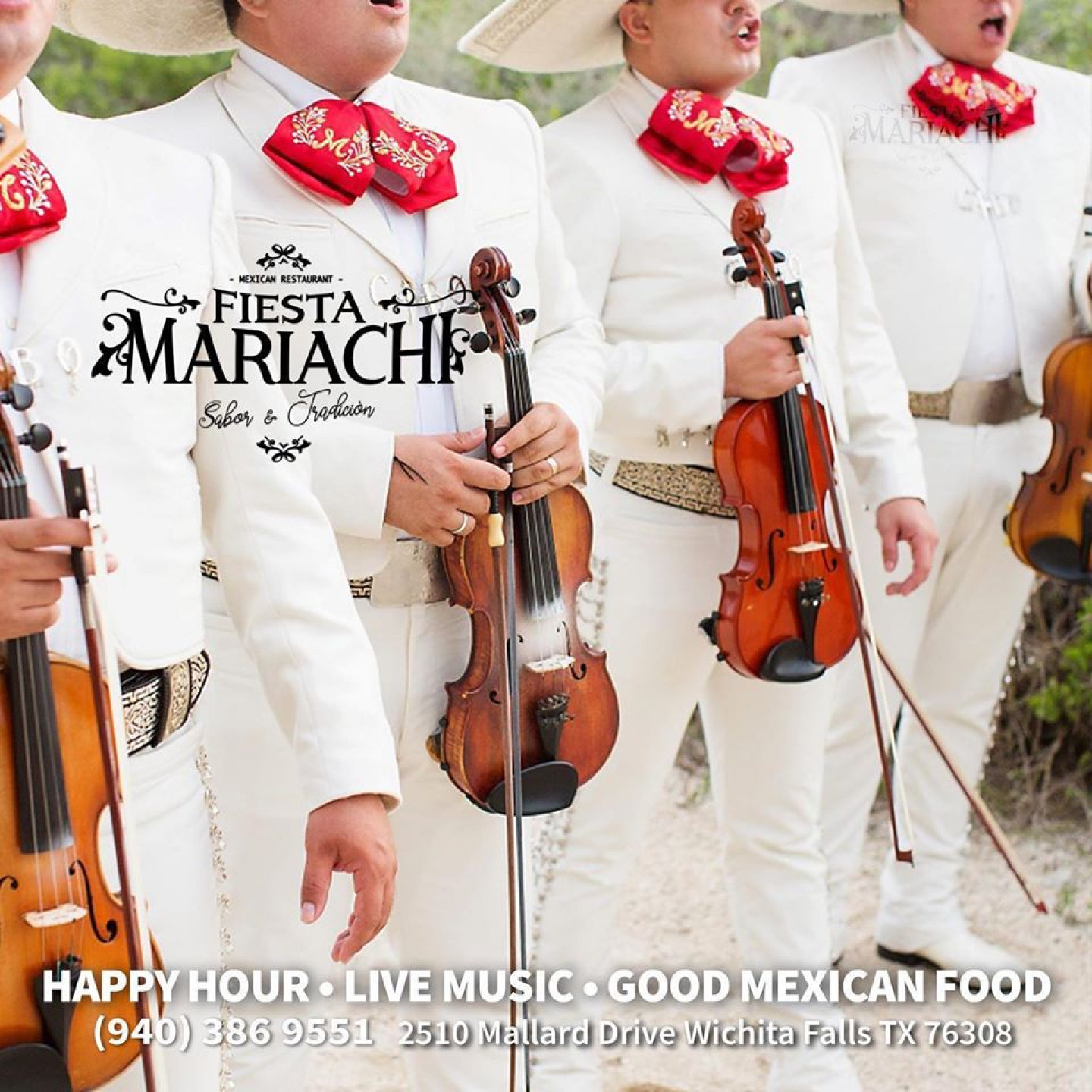 Mariachi Band Every Wednesday from 6-9PM!